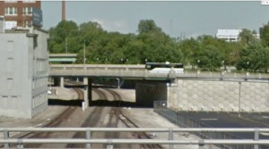 Grand Avenue bridge. An example of one of the bridges that would have to be modified in order to  accommodate a fourth track.