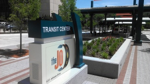 Allen Roth Mission Transit Center Entrance at 5251 Johnson Drive, Mission, Kansas