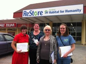 Erin, Carol, Carroll and Rachel conducting the Rosedale Transit Survey