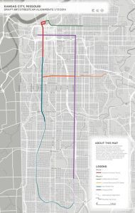 Proposed Streetcar routes - Plain. Click to enlarge.