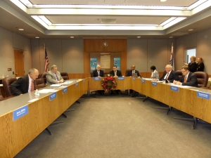 Signing ceremony at the KCATA Board of Commissioners Dec 17, 2014